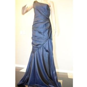 Carmen Marc Valvo One Shoulder Embellished Gown#25